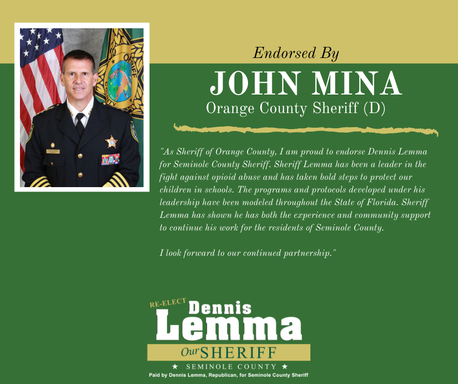 Orange County Sheriff John Mina