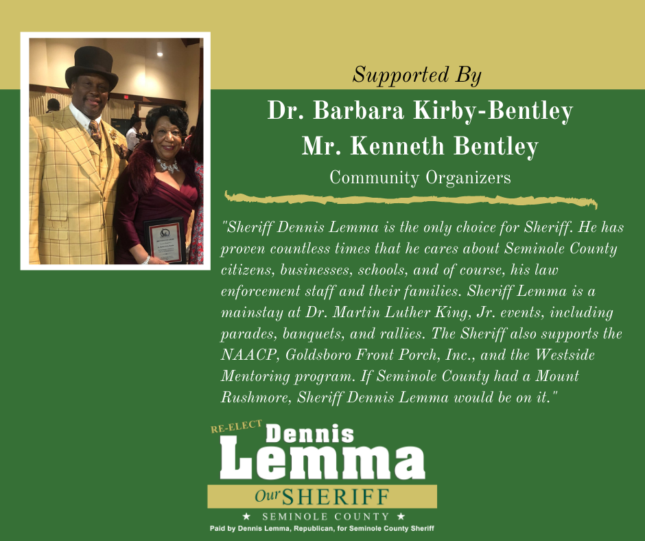 Dr. Barbara Kirby-Bentley and Mr. Kenneth Bentley